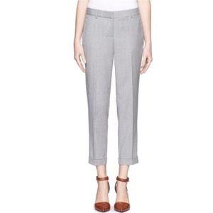 J. Crew Cafe Capri Pants Gray Wool